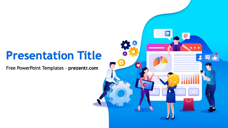 Free Digital Marketing Proposal Ppt Template Prezentr Ppt Templates Digital Marketing Trends Digital Marketing Digital Marketing Plan