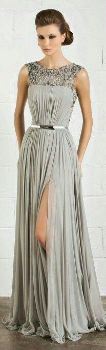Vestidos de noche color gris