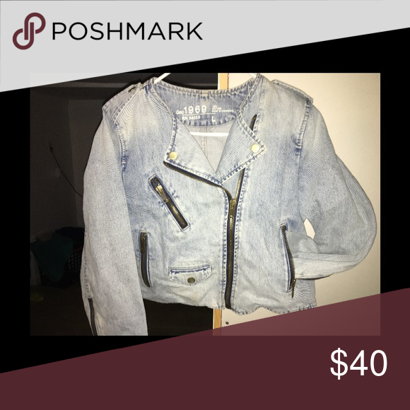 best deals on check out official store 1969 GAP Biker Jean Jacket Biker style, crop top fitting, and half ...