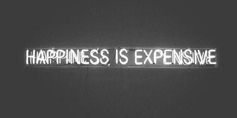 Happiness Expensive Gift Vintage Lights Wanderlust Black And White Black White Photography Quote Aesthetic Black And White Aesthetic Twitter Header Aesthetic