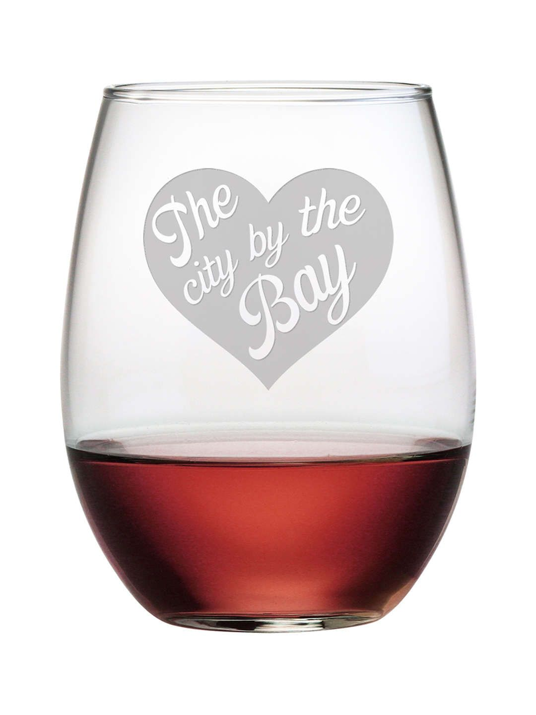 San Francisco The City By The Bay Stemless Wine Glasses Susquehanna Glass Co Stemless Wine Glasses Wine Glasses Wine