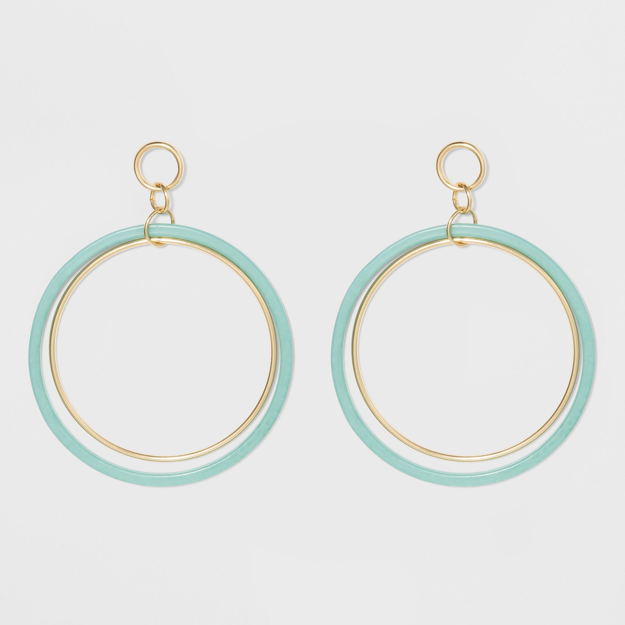 e3b5b3d34ebc2 Large Circle Earrings - A New Day Green/Silver, Women's in 2019 ...