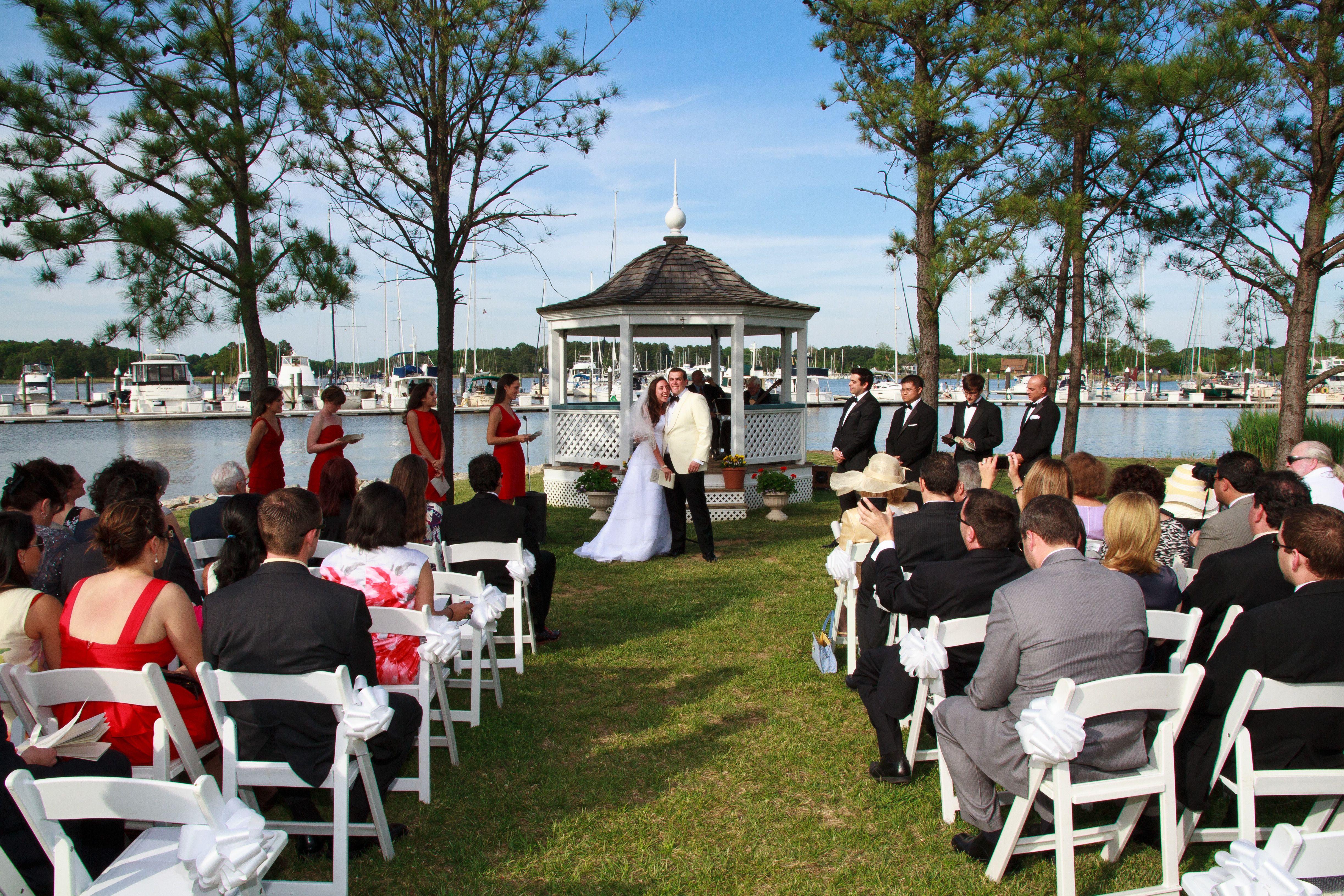 Chesapeake Bay Wedding Venue. Outdoor Wedding. Chesapeake