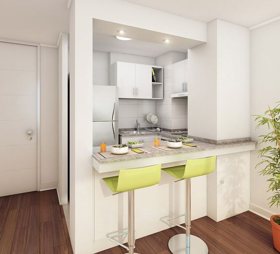 15 cocinas peque as y bonitas kitchens ideas para and for Cocinas practicas y pequenas