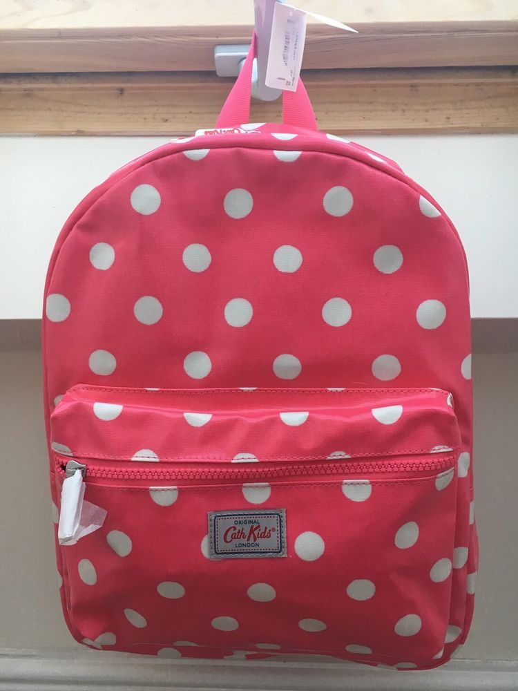 Polkadots Large RED Baby Nappy Backpack Bag BNWT