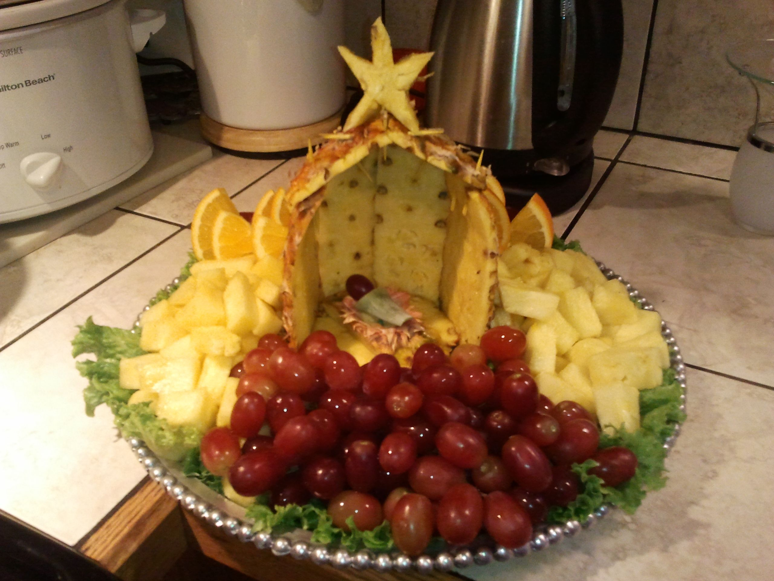 Made Last Christmas With A Pineapple After Removing Stem, The