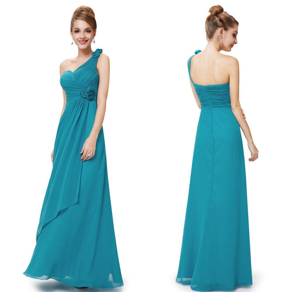 Elegant Blue Womens Prom Long Maxi Evening Bridesmaid Formal Gown ...