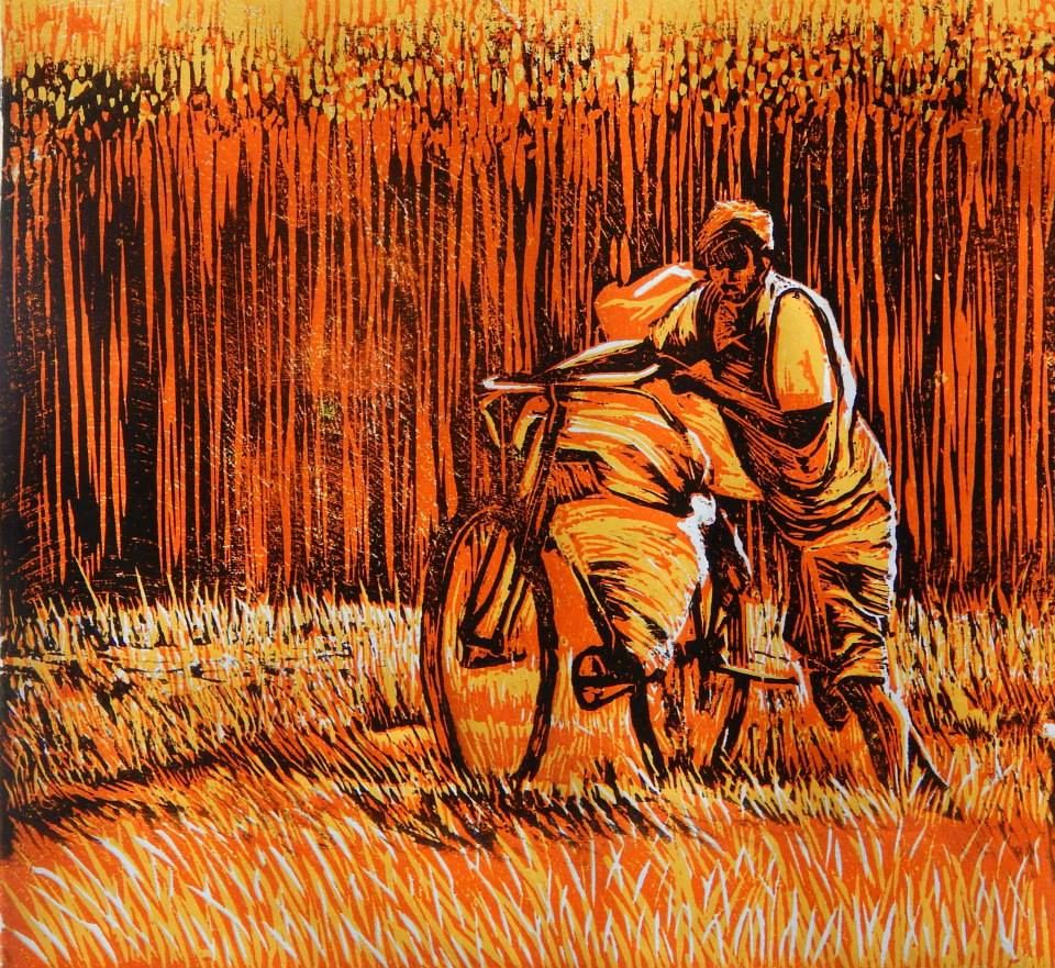 Title - Back to Home Medium - Wood Print Size - 12 x 12 inch