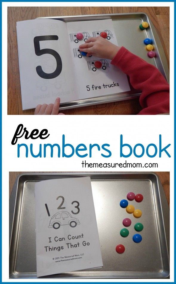 Free numbers book for kids ages 2-5 Free Printable of the Day