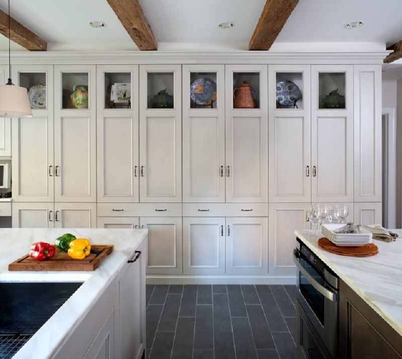 40 Trendy Kitchen Cupboards Design with Lovely Bright Color Design