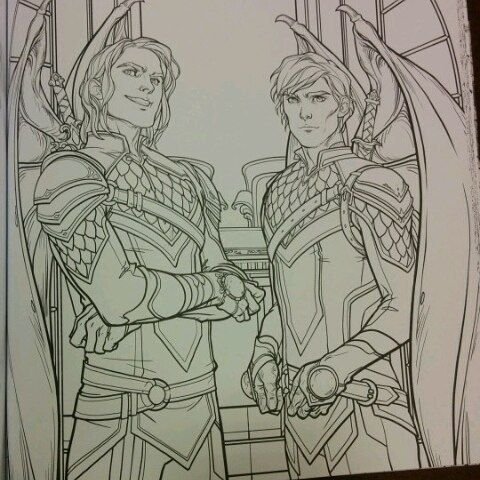 SOME ACOTAR COLOURING BOOK TEASERS THE SHOE THROWING SCENE AND OMG THAT