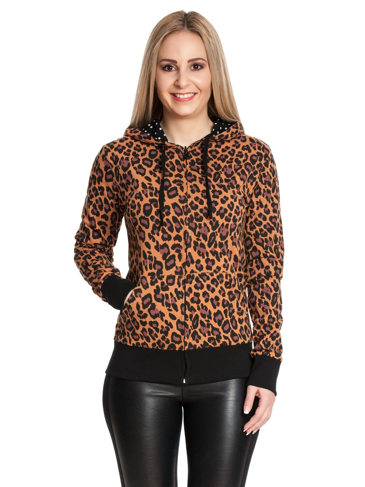 Pussy Deluxe Leo Dotties Female Reversible Jacket black/leo  – Bild 4