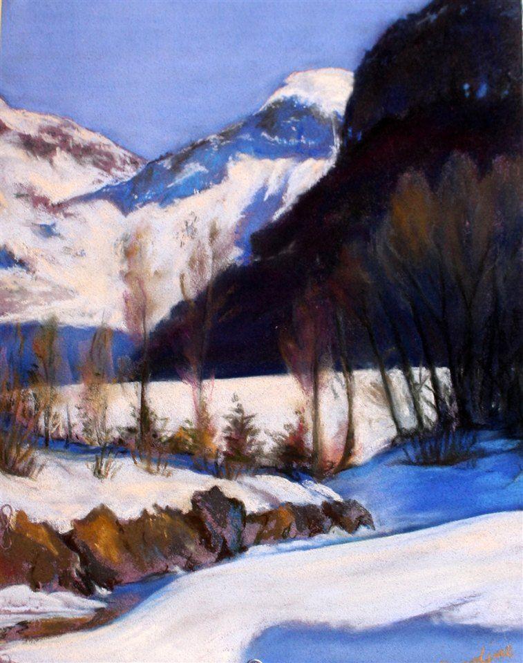 """Telluride"" a pastel by Caroline Verbica, Silver Key"