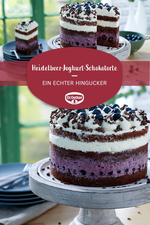 Kleine Heidelbeer Joghurt Schokotorte Rezept In 2020 Schokotorte Sahnetorte Kuchen Und Torten