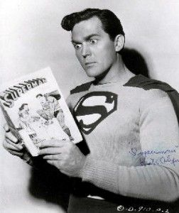 Superman reading - Kirk Alyn Superman 1948