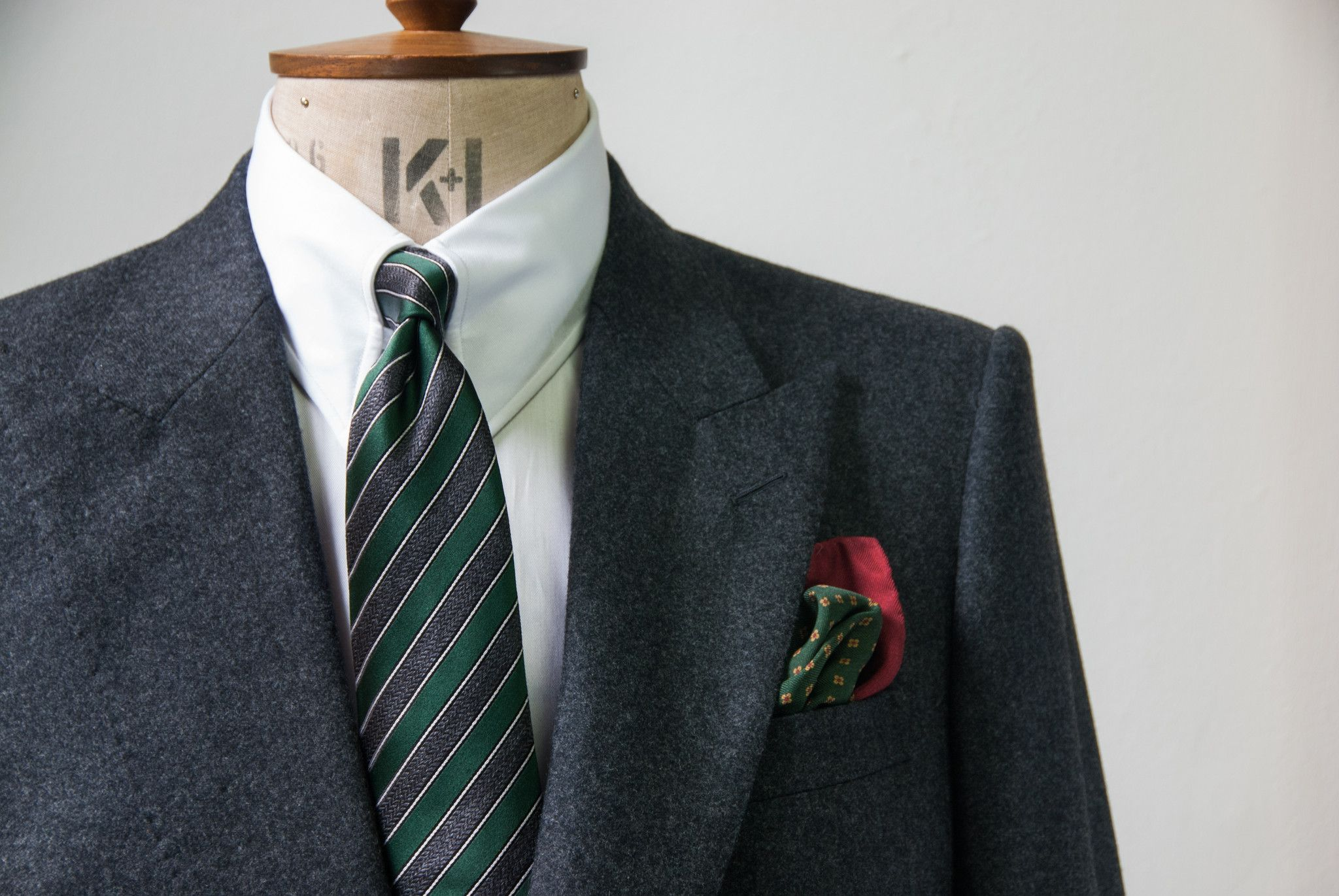 Edward Sexton Bottle Green And Charcoal Look Grey Suit Men Green Collection Gray Suit