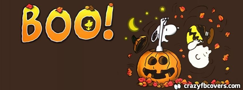 Charlie Brown And Snoopy Halloween Facebook Cover Facebook