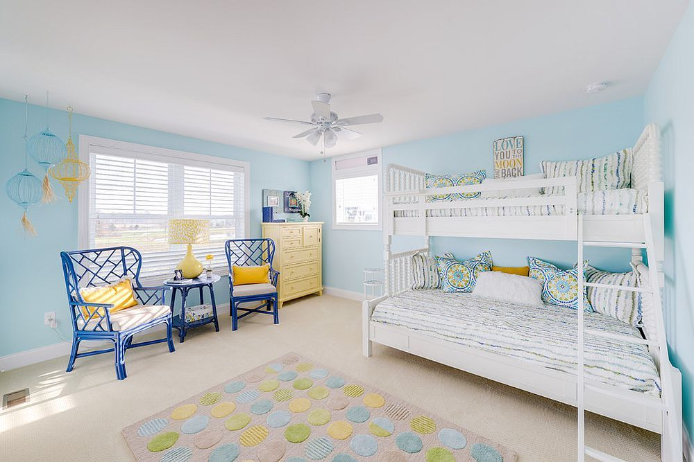 Best Beach Style Kids' Room In Blue With A Hint Of Yellow 400 x 300