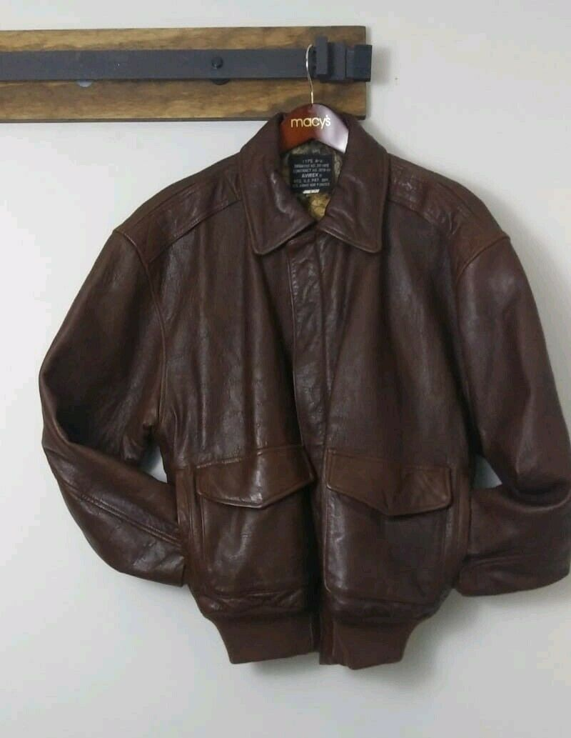 Vintage Avirex US Army Airforce Type A2 Mens Leather