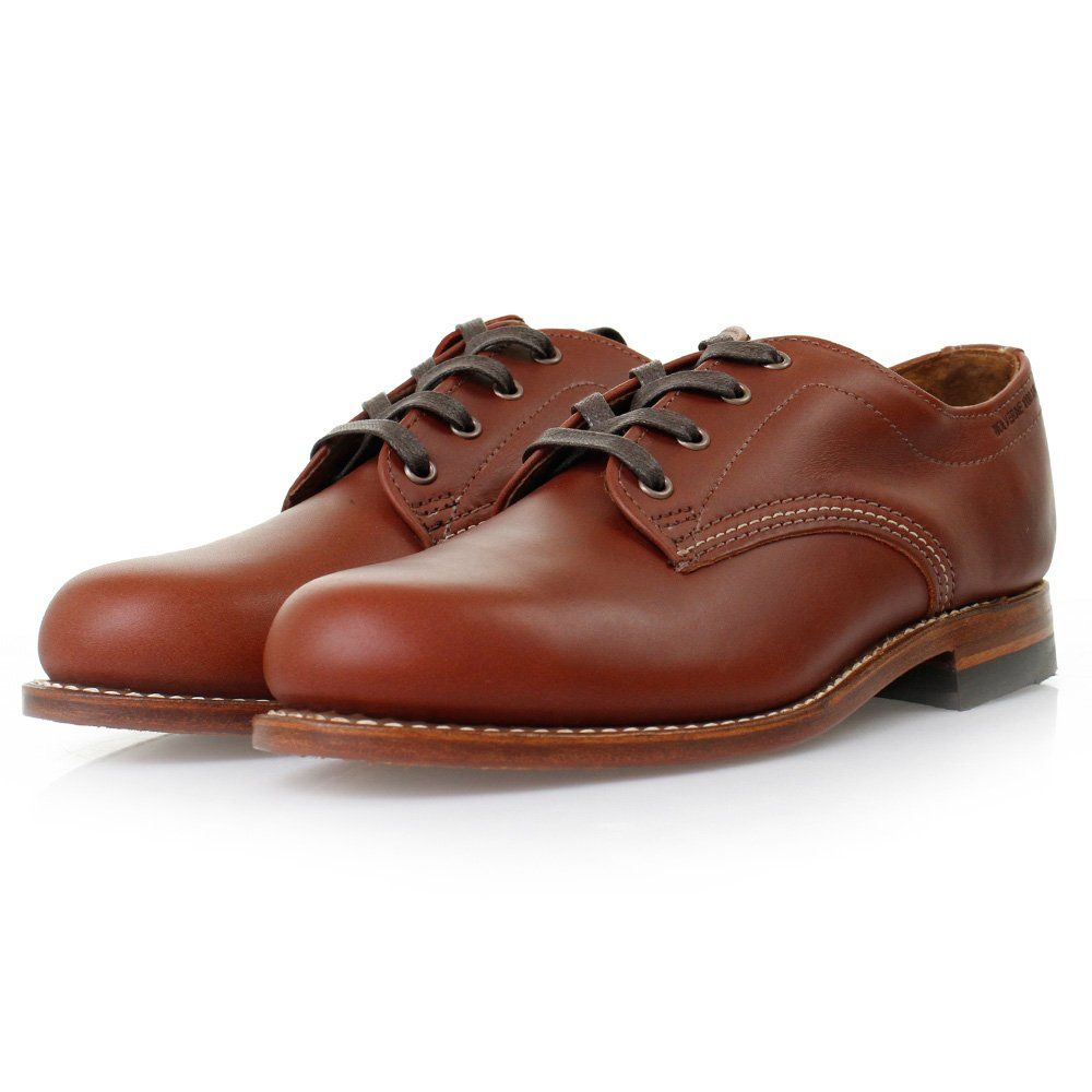 677e8d4707b0b7 Wolverine 1000 Mile Oxford Redwood Leather Shoes W00070