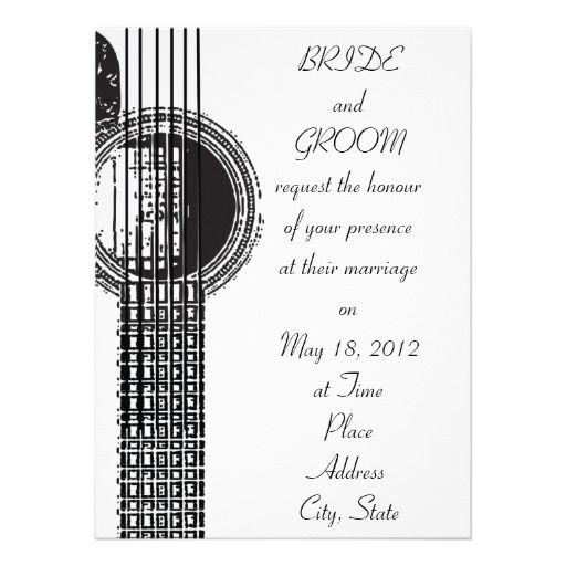 Guitar Wedding Songs: Acoustic Guitar Wedding Invitation