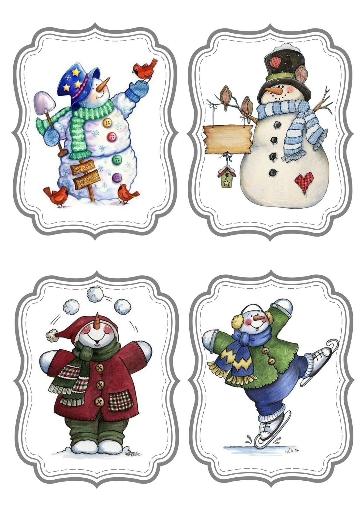 Christmas Clipart Games Templates Ideas Vintage Cartoons Winter Stuff