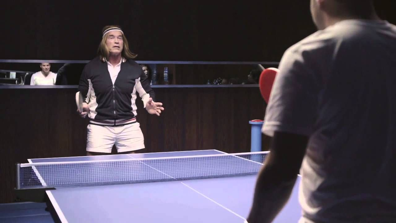 Bud Light Superbowl Commercial Arnold Schwarzenegger Plays Ping Pong For Bud Light Super Bowl