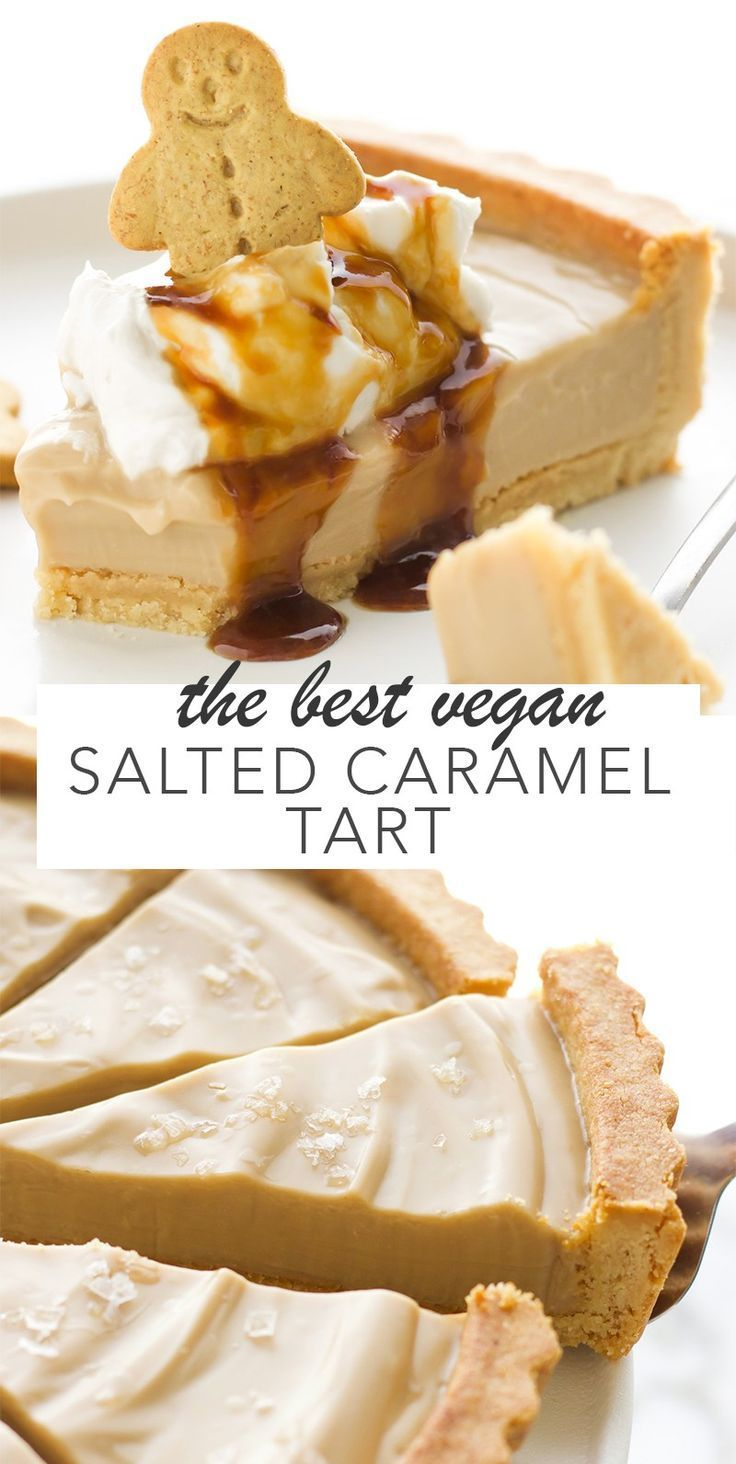 The Best Vegan Salted Caramel Tart #vegan