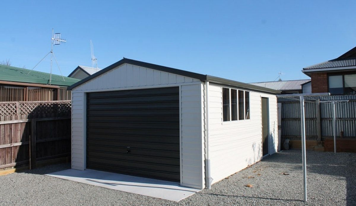 Single Garage Versatile Garage Coloursteel White