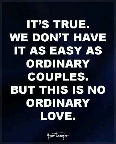 Attractive Love Quote U0026 Saying Image Description U201cItu0027s True. We Donu0027t Have It As Easy  As Ordinary Couples. But This Is No Ordinary Love.