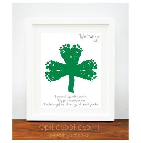 Photo of Muttertagsgeschenk für Oma, kundenspezifischer Handabdruck & Fußabdruck-Kunstdruck, personalisiert mit Ihrem Kind '
