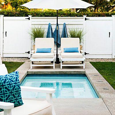give your backyard a beach club look splash pool