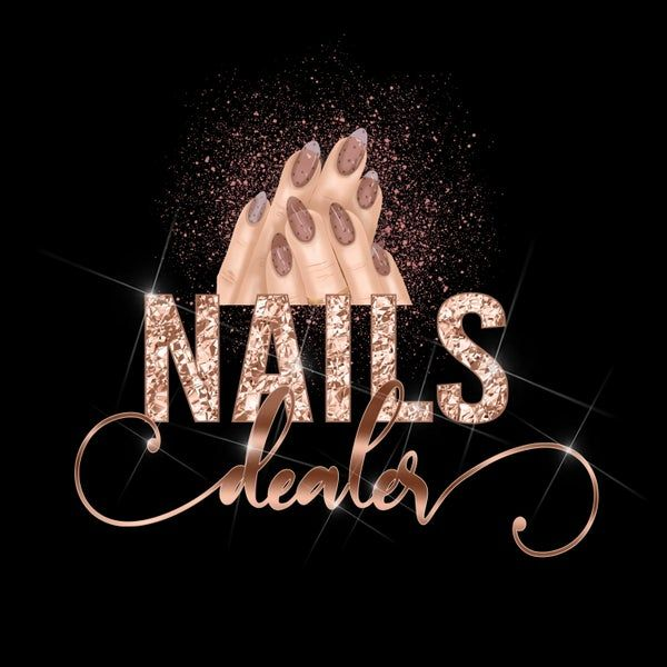 Nail Logo, Nail Artist Logo, Nails Logo, Nail Logo Design, Rose Gold Logo, Beauty Logo
