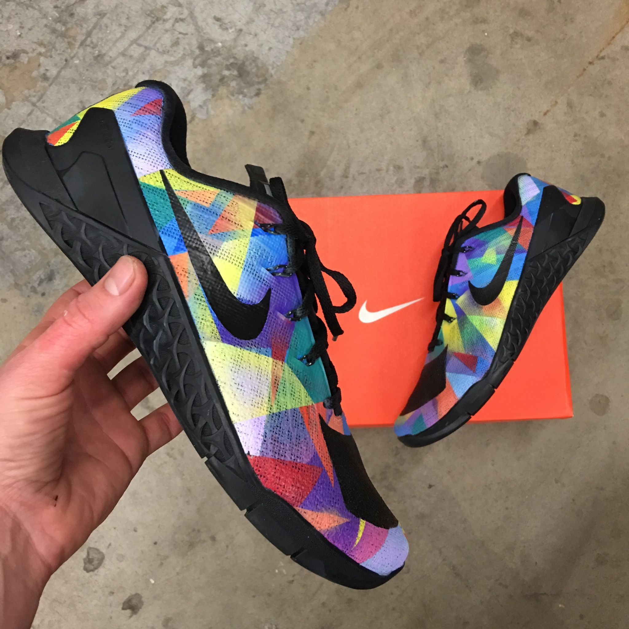 size 40 07158 4dff6 Custom Painted Nike Metcon 2  Prism  Nike Metcon 2, Training Shoes, Custom