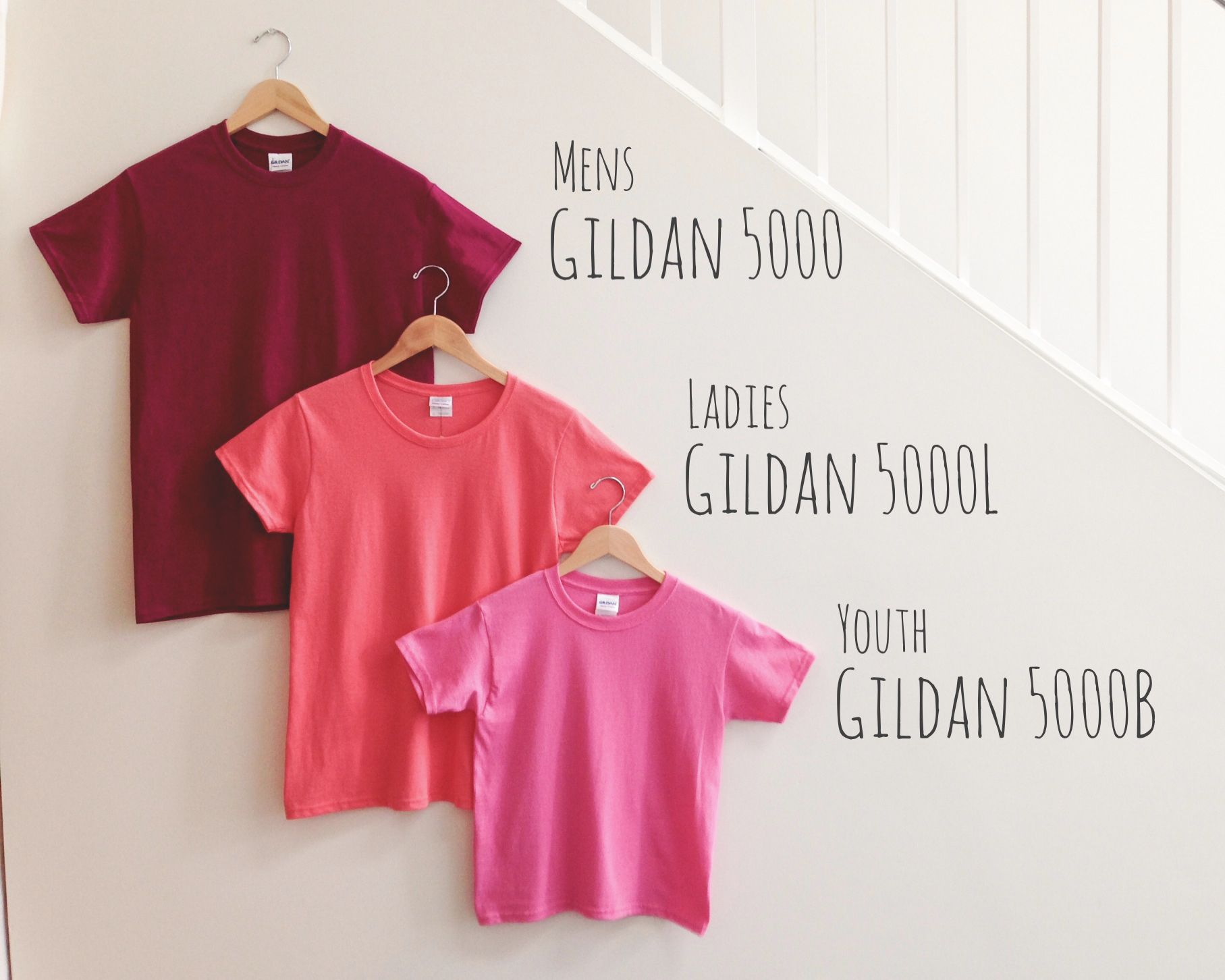 Size Shape Comparison Of The Gildan Heavy Weight Cotton Family Small Gildan 5000 Medium Gildan 5000l Small Gildan 5000b Open Shoulder Tops Gildan Fashion