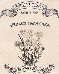 Rustic Wildflower Seed Packet Wedding Favors