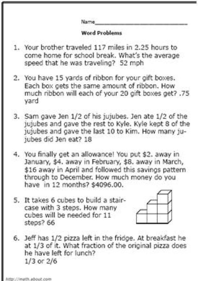 d79ac3b018c6aa916c7aaa98dee43998  Th Grade Math Problems And Answers on