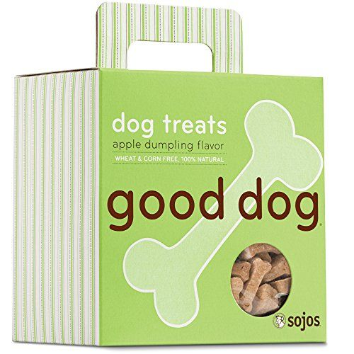 Sojos Good Dog Crunchy Natural Dog Treats, Apple Dumpling, 8-Ounce Box