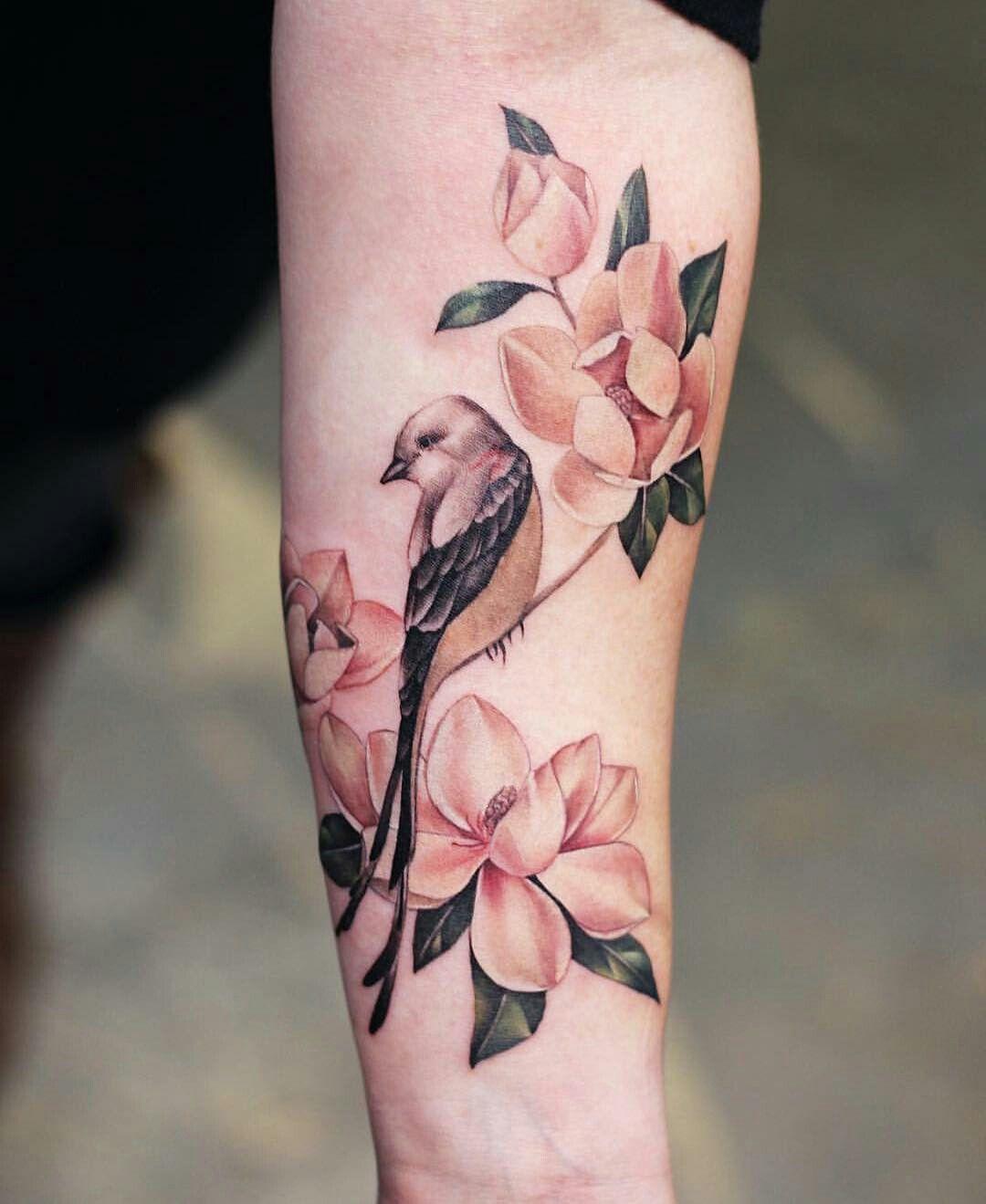 Floral Bird Tattoo Floral Tattoo Sleeve Bird Tattoo Sleeves Vine Tattoos