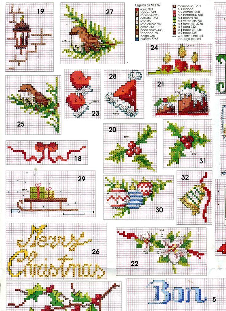 Motivos navideños | punto de cruz | Pinterest | Punto de cruz, Punto ...