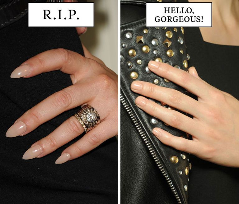 21 Beauty Trends That Need to Die in 2015 | Almond shape nails ...