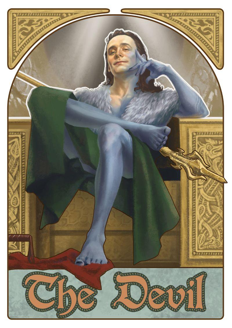 Tarot Superheroes Villains Other Comic Book Characters: Avengers Superhero Tarot Card Art Set
