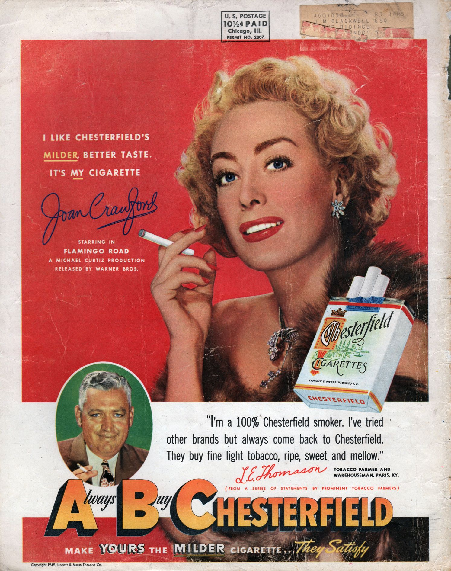 Chesterfield 1949, JoanCrawford