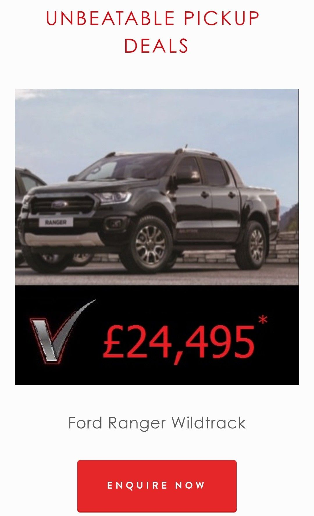 Unbeatable Pick Up Deals www.vanzone.co.uk in 2020 Ford