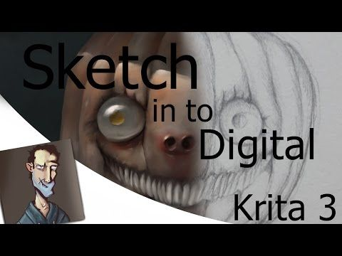 How to turn pencil sketch in to digital painting in krita 3 youtube
