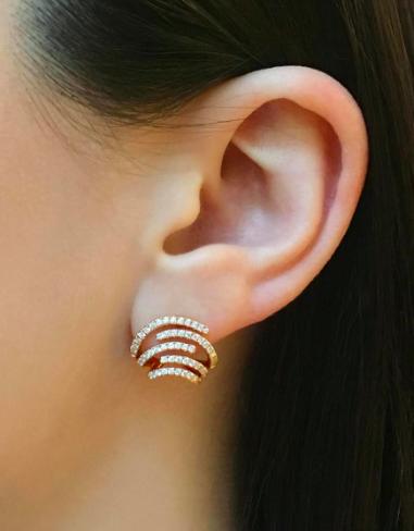 2029b9efbe785 Diamond earrings   bijoux   Jewelry, Designer earrings, Diamond jewelry