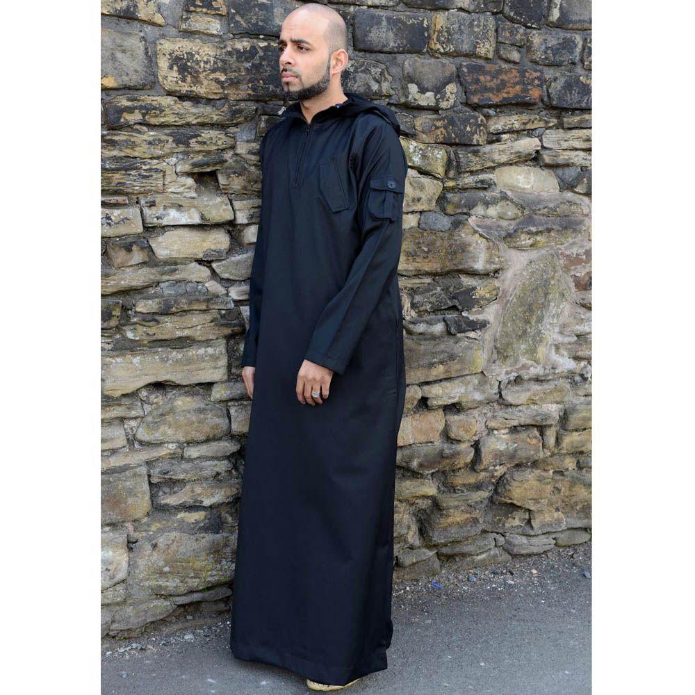 Urban Hooded Jubba Thobe Black Casual Pinterest