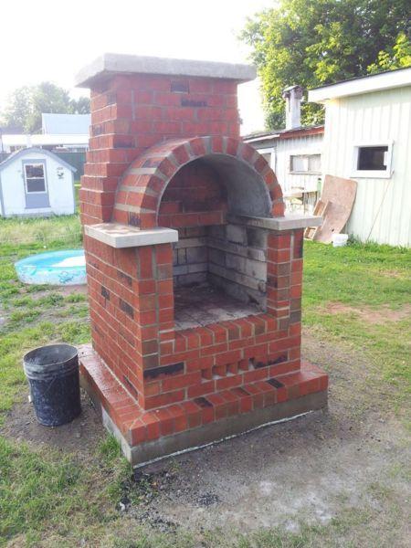 foyer extérieur, brique réfractaire 2 pouces et demi à lu0027intérieur