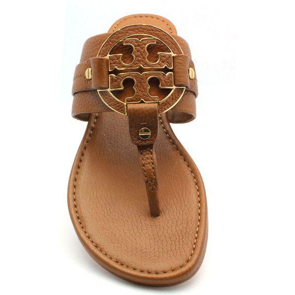 95db20fc0fcd18 Tory Burch  amanda  Flat Tan Leather Thong ( 250) ❤ liked on ...