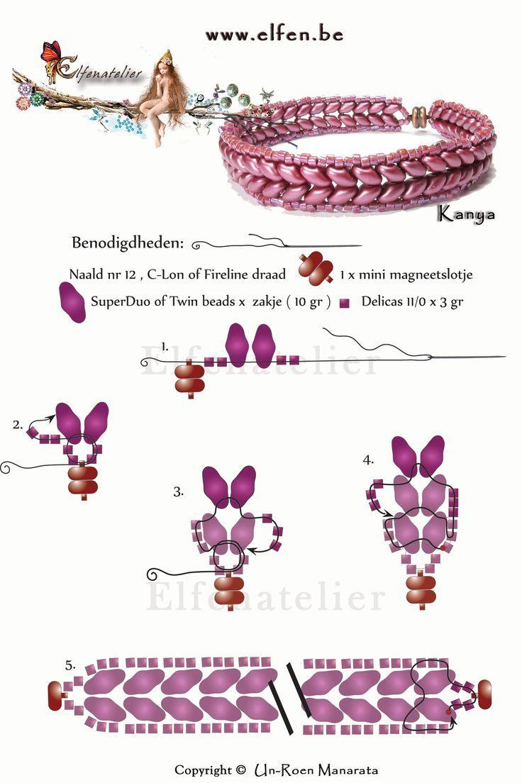 Схема плетения браслета из бисера своими руками фото 694